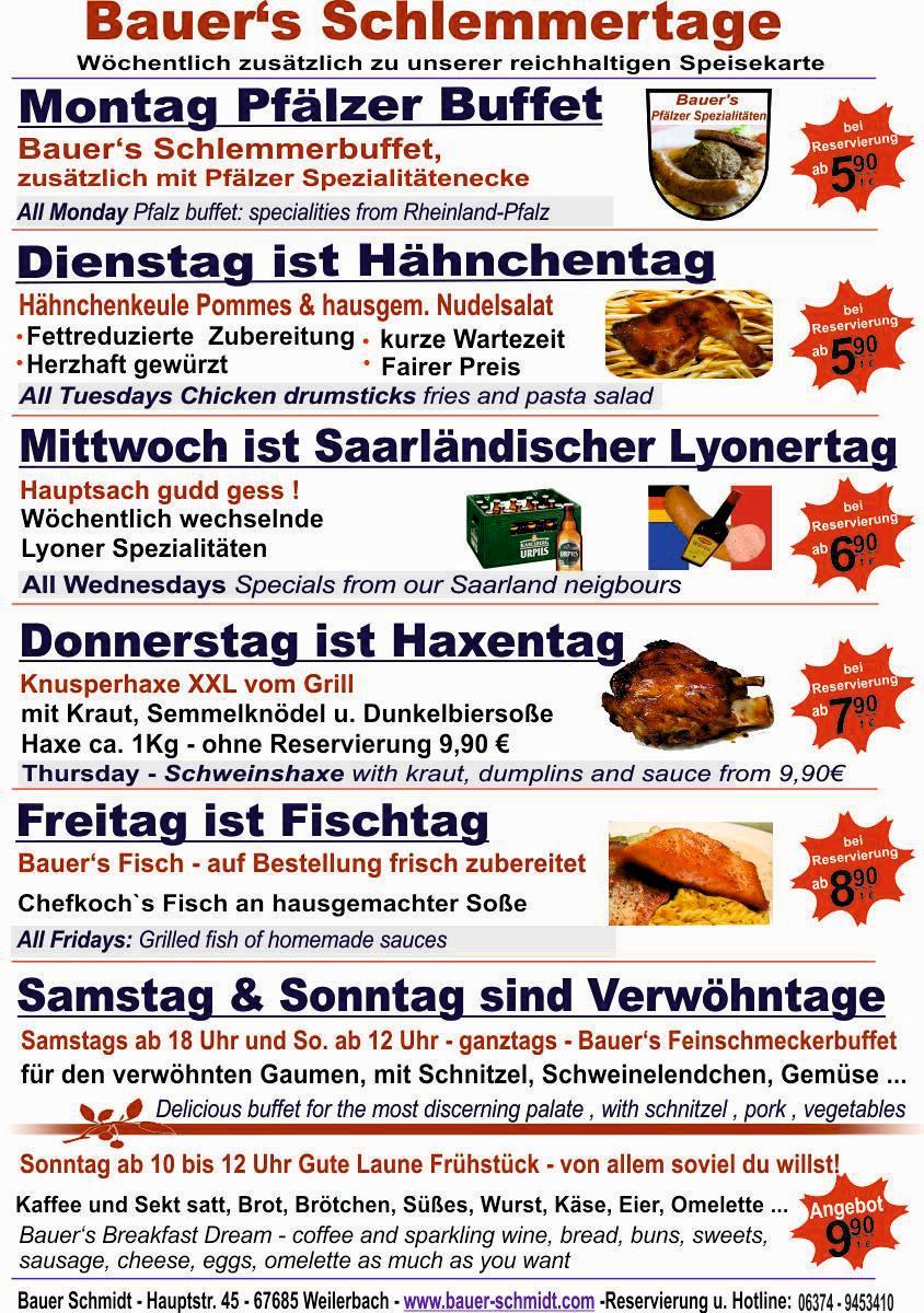 Bauers Schlemmerkarte
